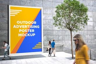 Free Outdoor Advertising PSD Mockup