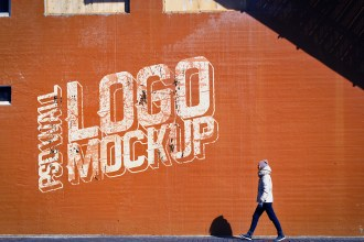 Free Street Wall Logo Mockup
