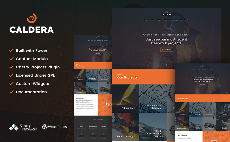 Caldera - Steelworks and Constructions WordPress Theme