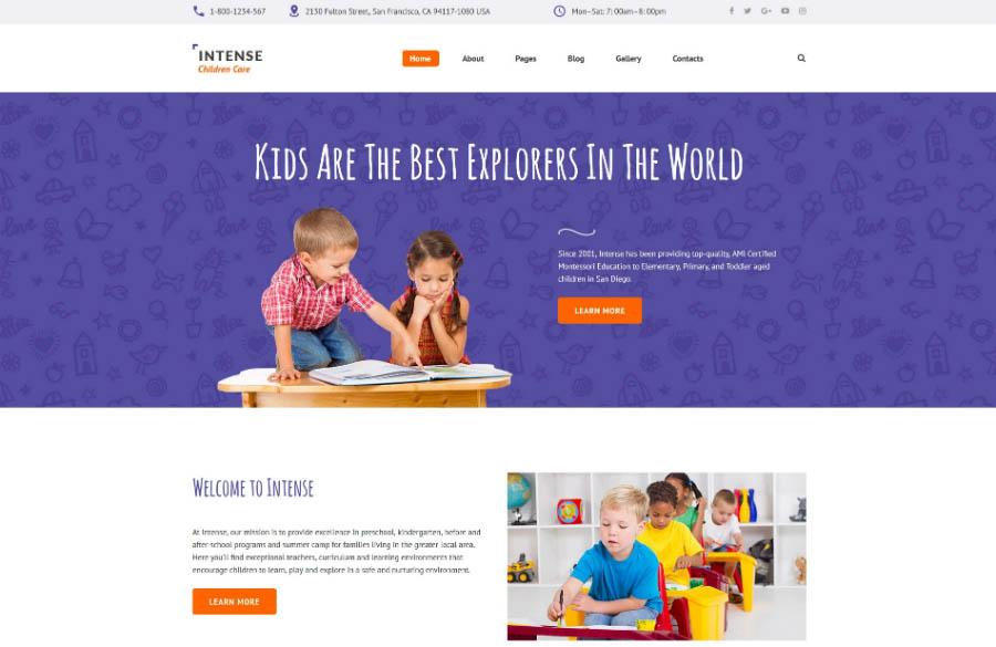 Children Education Joomla Theme