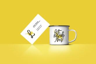Free Business Card & Coffee Cup Mockup