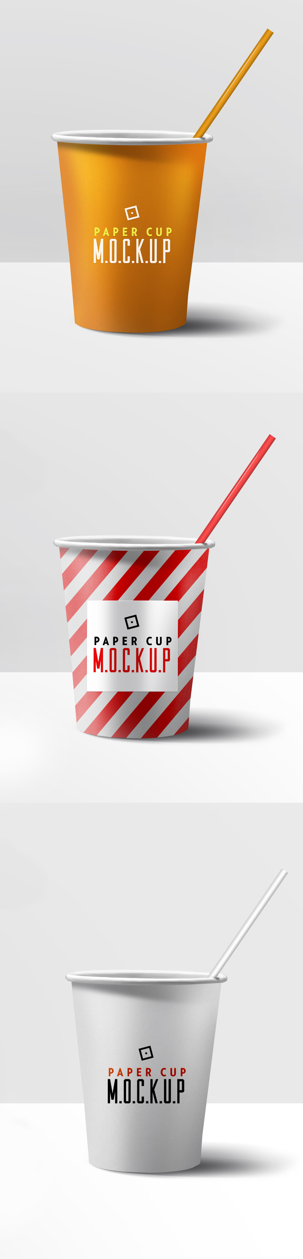 Free Paper Cup PSD Mockup