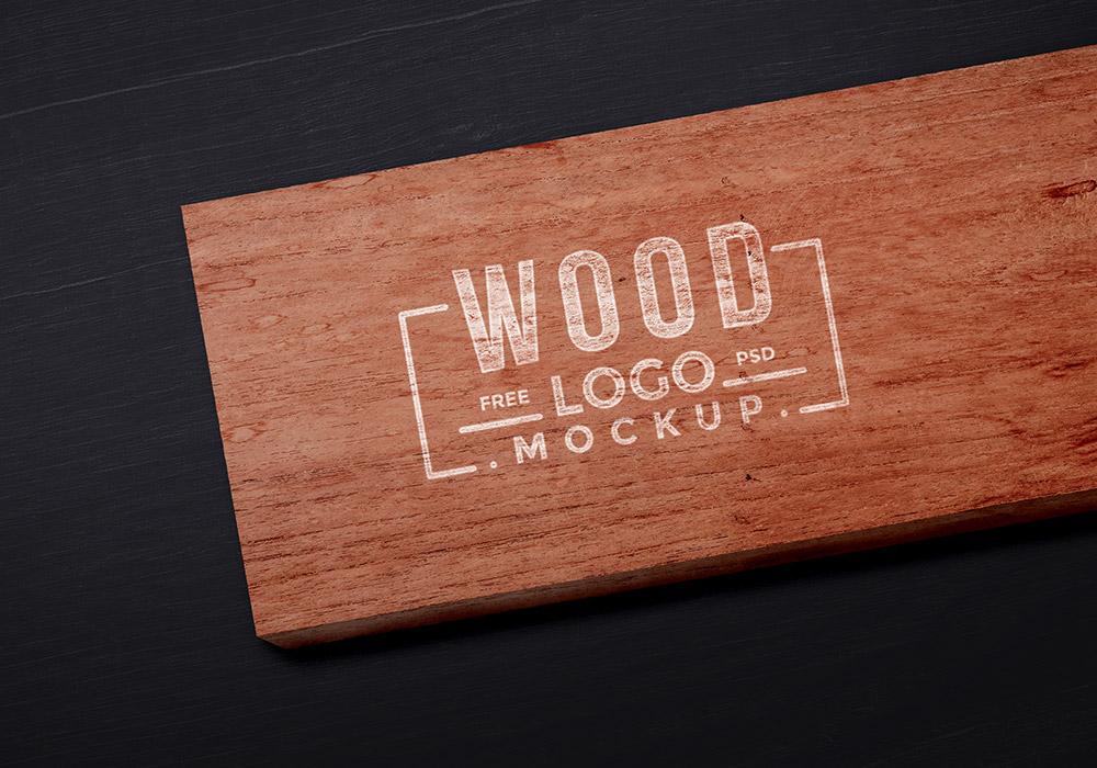 Free Wood Logo Mockup