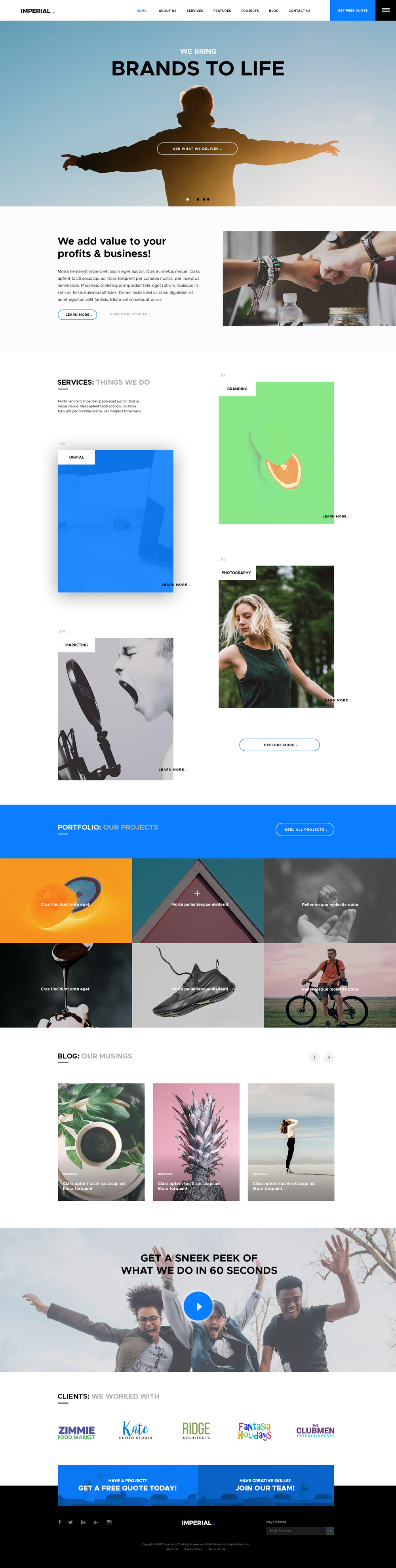 Imperial PSD Website Template