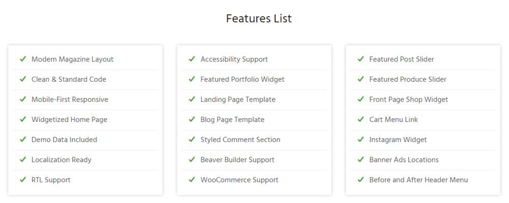 Vibrant Pro Features