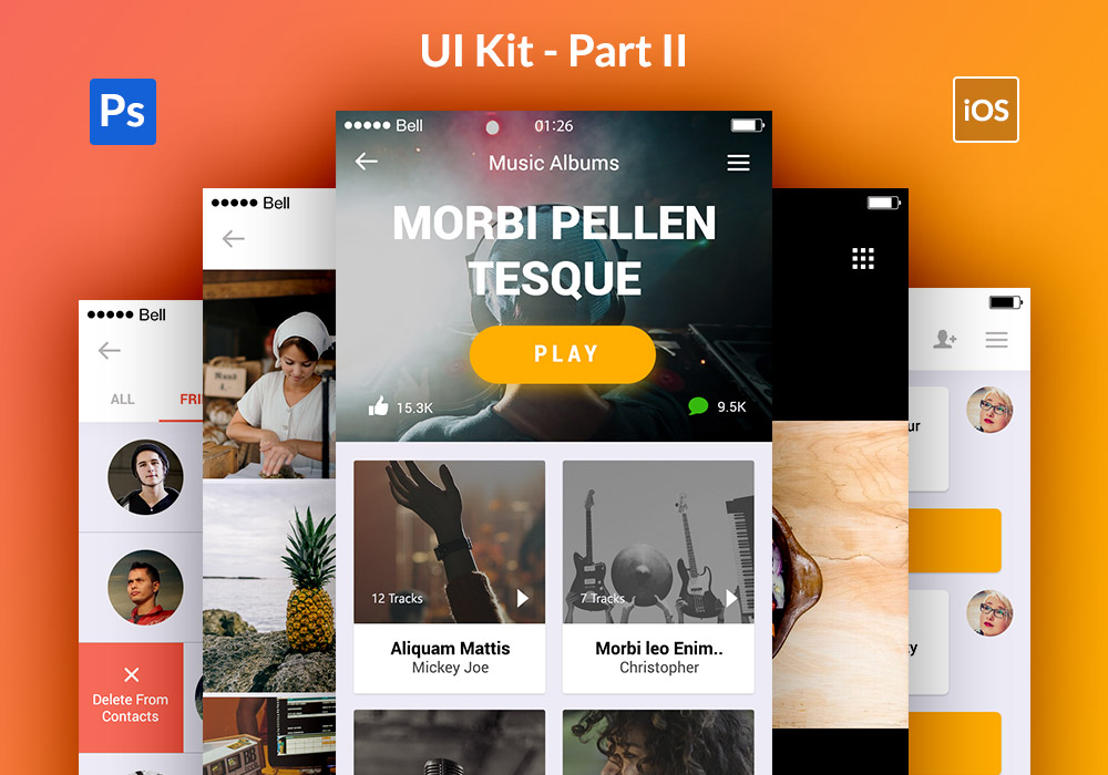 Appify Mobile App UI Kit PSD
