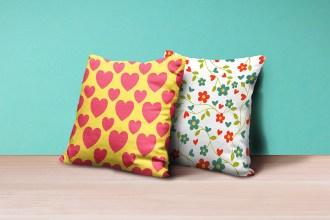 Square Pillows Mockup