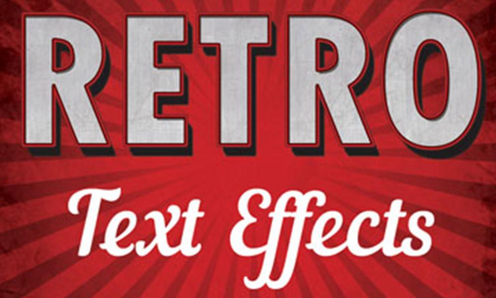 Retro Text Effect Photoshop Action