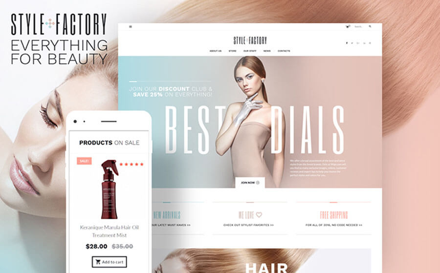 Hair Styling Tender WooCommerce Theme