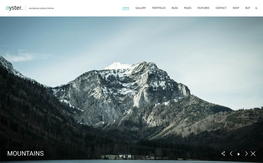 Oyster - Fullscreen Photo and Video Website Template