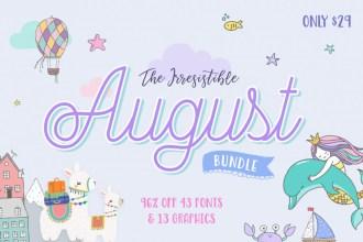 August Fonts & Designs Bundle