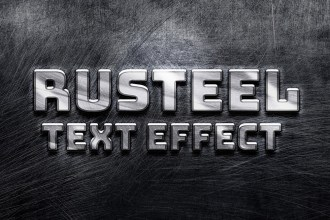 Rusteel Text Effect PSD