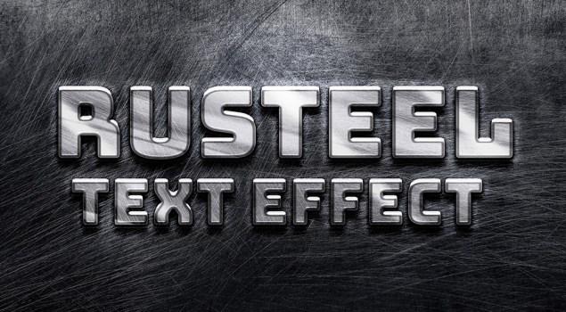Rusteel PSD Text Effect