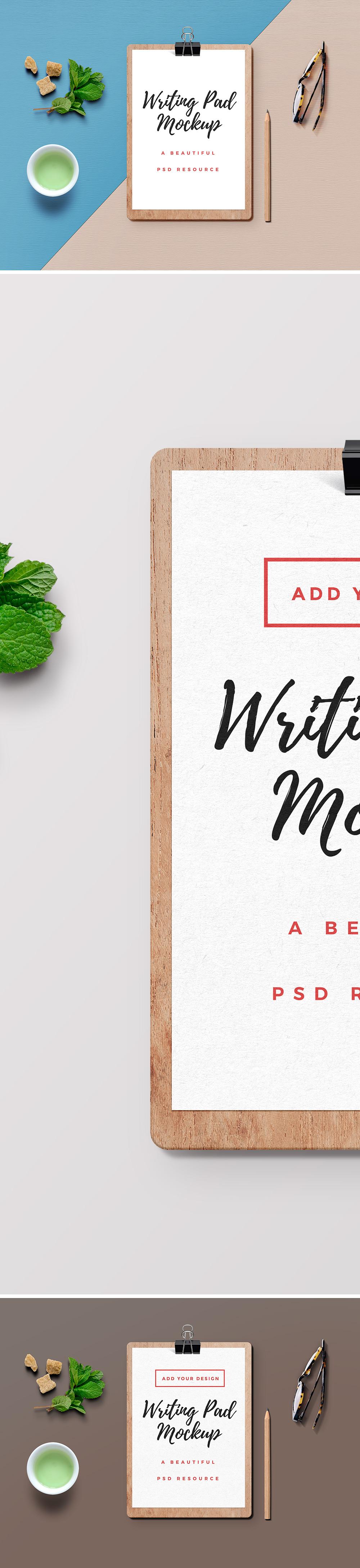 Writing Pad PSD Mockup