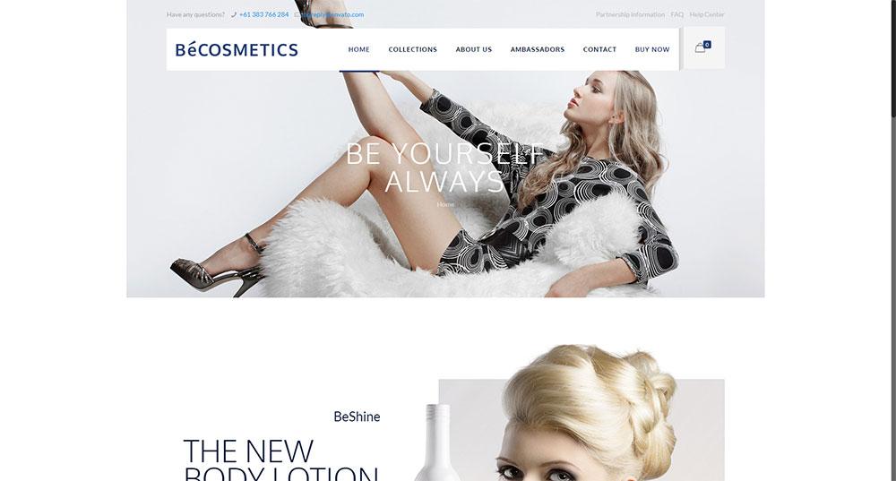 Be Cosmetics Theme