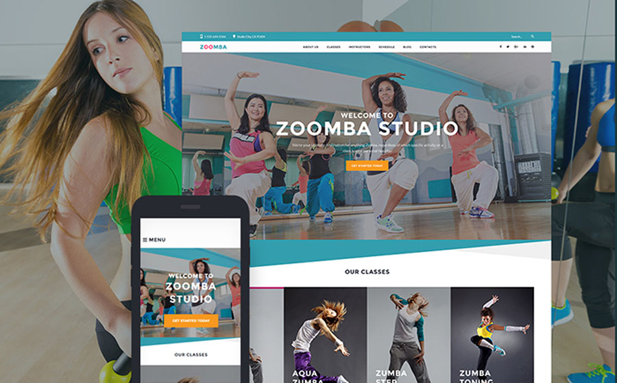 Zoomba - Zoomba Dance Studio WordPress Theme
