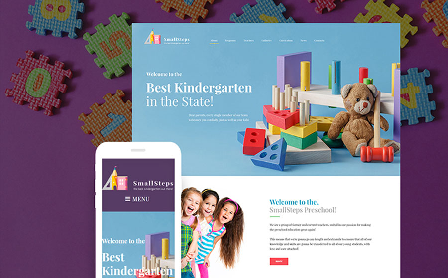 SmallSteps - Kindergarten Responsive WordPress Theme