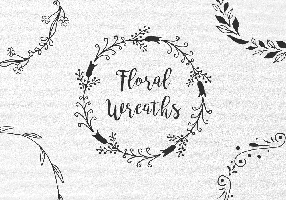 16 Floral Wreaths
