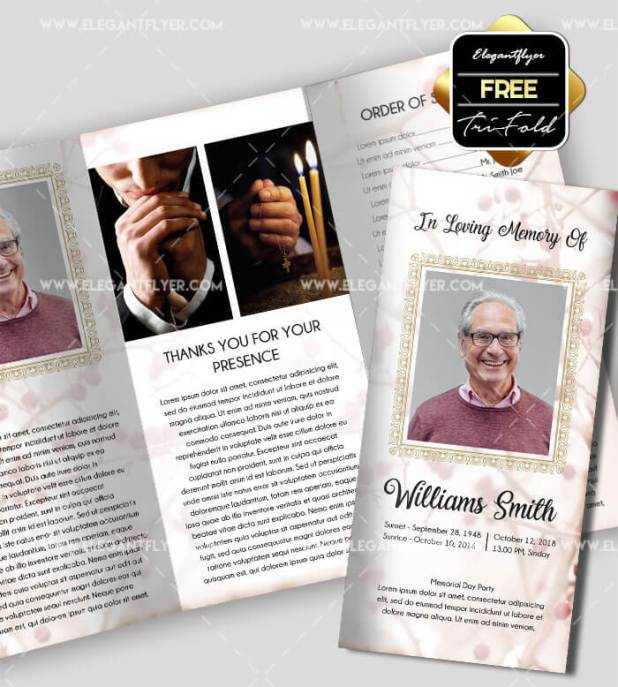 Free Funeral Tri-fold Brochure Template