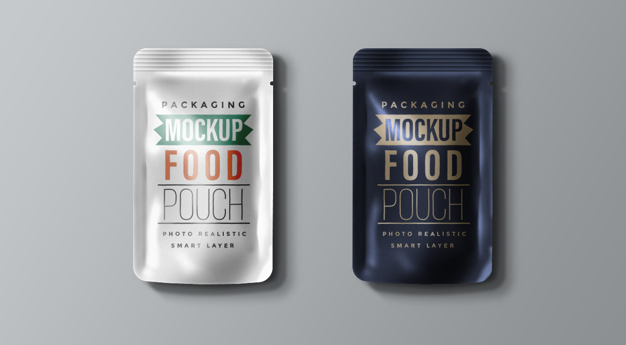 Food Packaging Pouch Mockup PSD