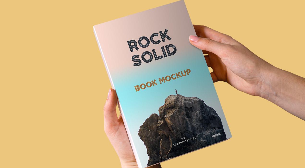 Paperback Book PSD Mockup