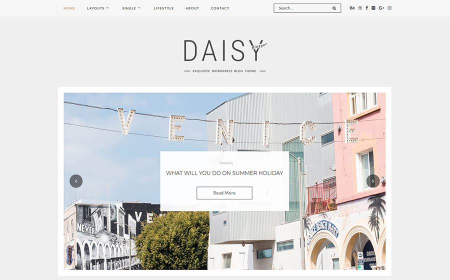 Daisy - Exquisite Blog WordPress Theme