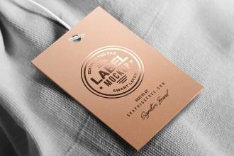 Clothing Tag Mockup PSD