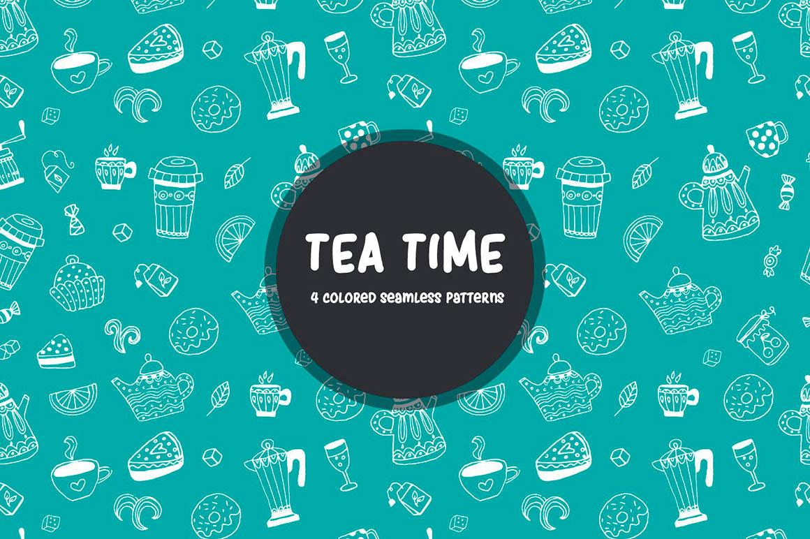 Tea Time Vector Pattern