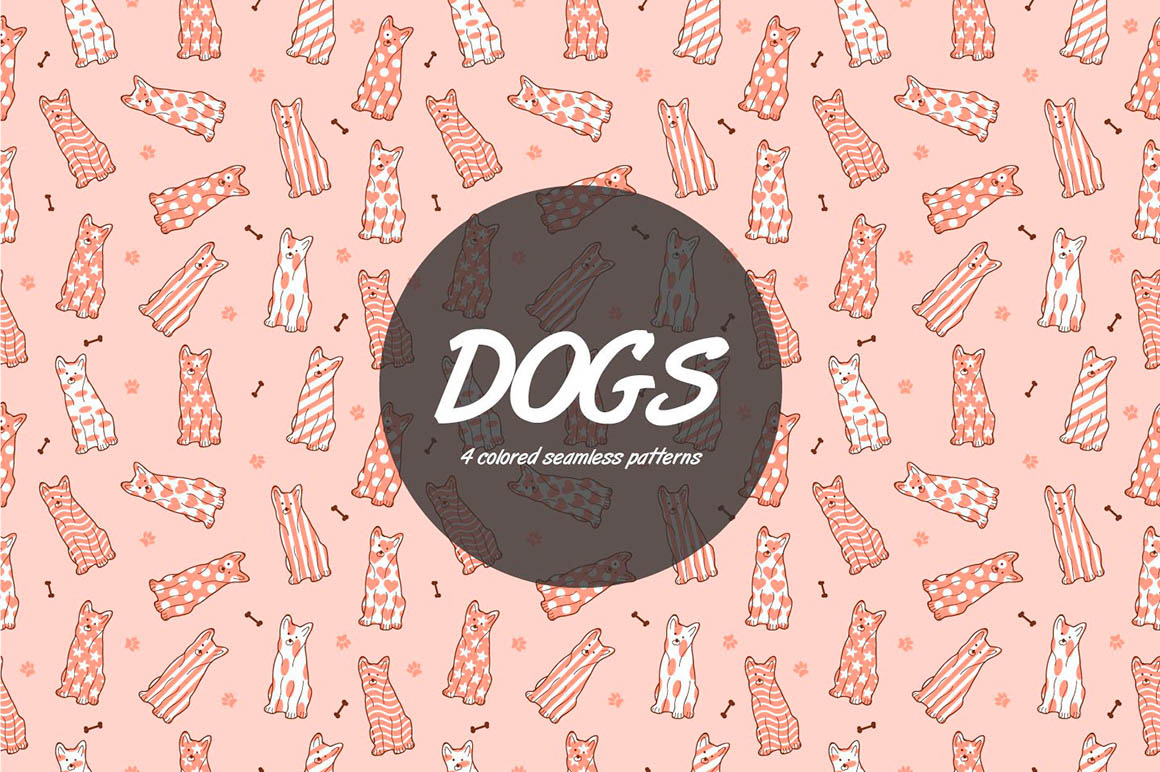 Dogs Vector Pattern