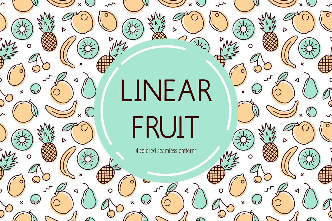 Linear Free Fruits Pattern