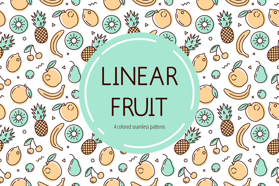 Linear Free Fruits Pattern