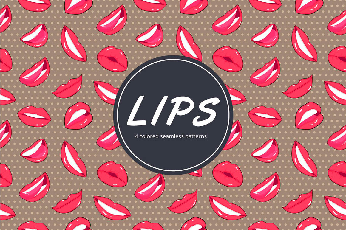 Lips Vector Pattern