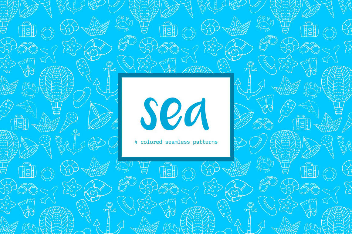 Sea Vector Pattern