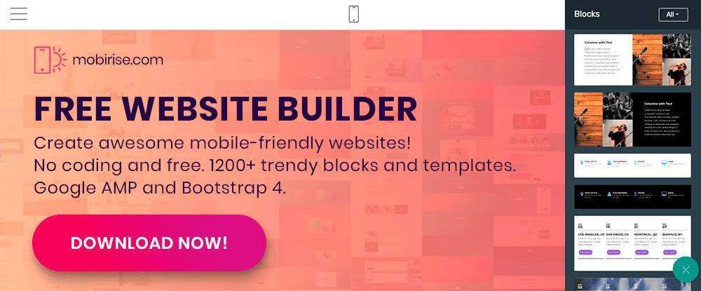 Mobirise Website Builder