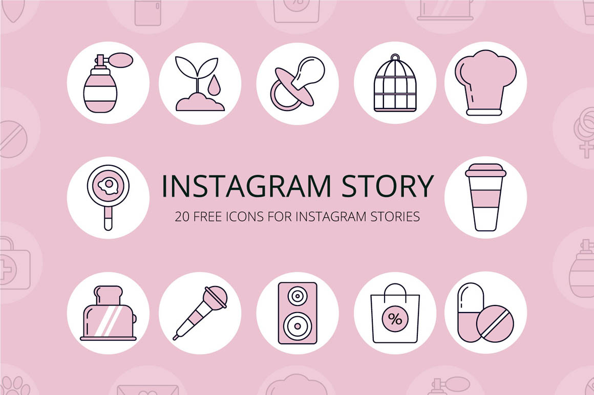 20 Free Icons for Instagram Stories