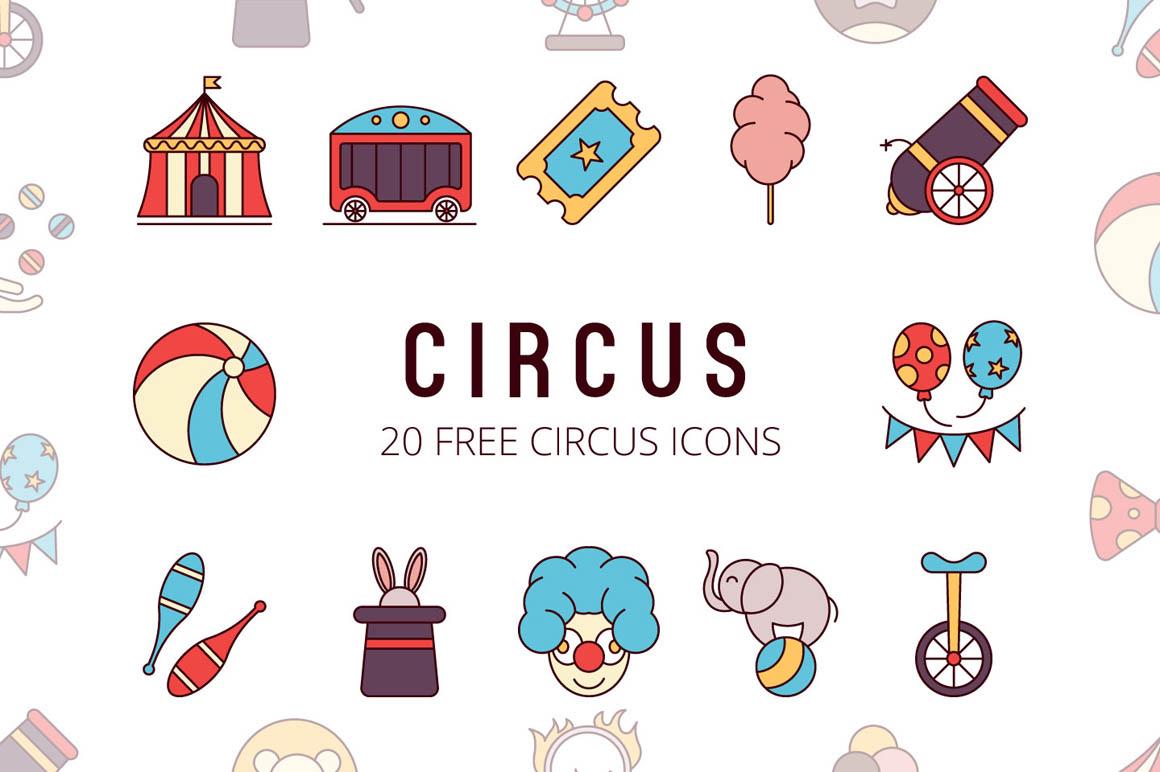 Circus Vector Free Icon Set