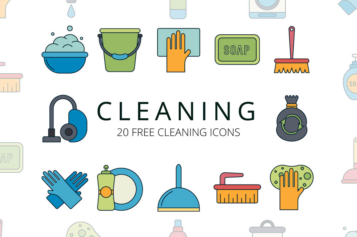 Cleaning Vector Free Icons