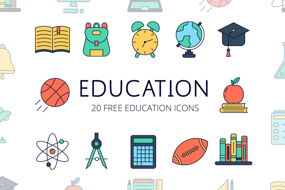 Education Vector Free Icon Set