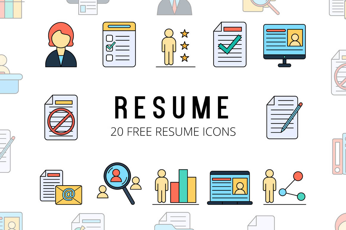 Resume Vector Free Icons