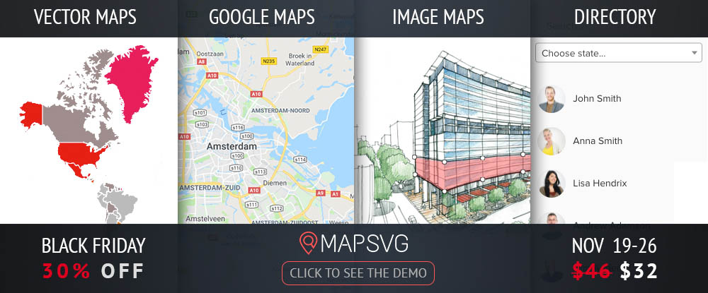 MapSVG WordPress Map Plugin