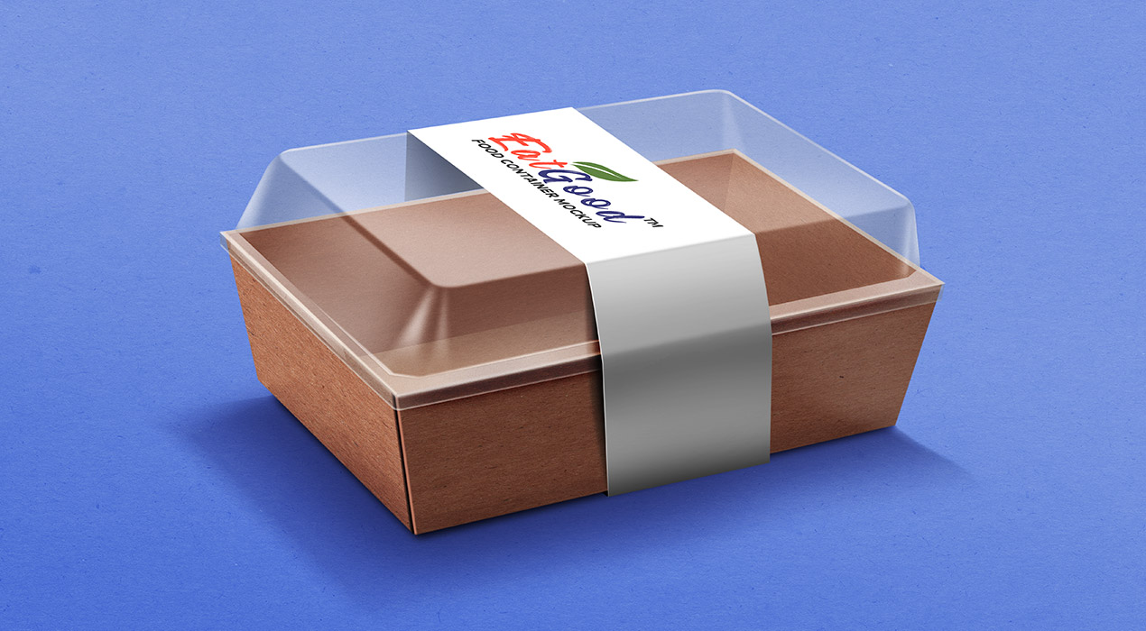 Food Container Paper Box Mockup