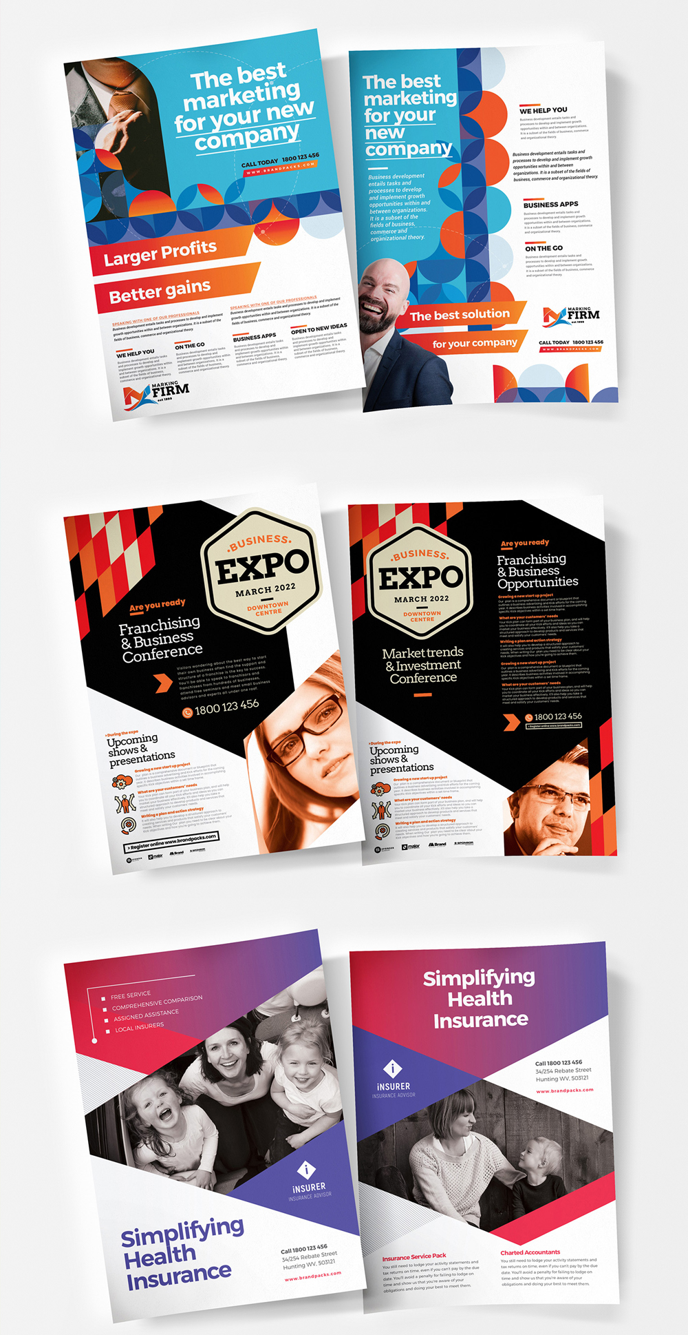 Vector Poster Flyer Templates