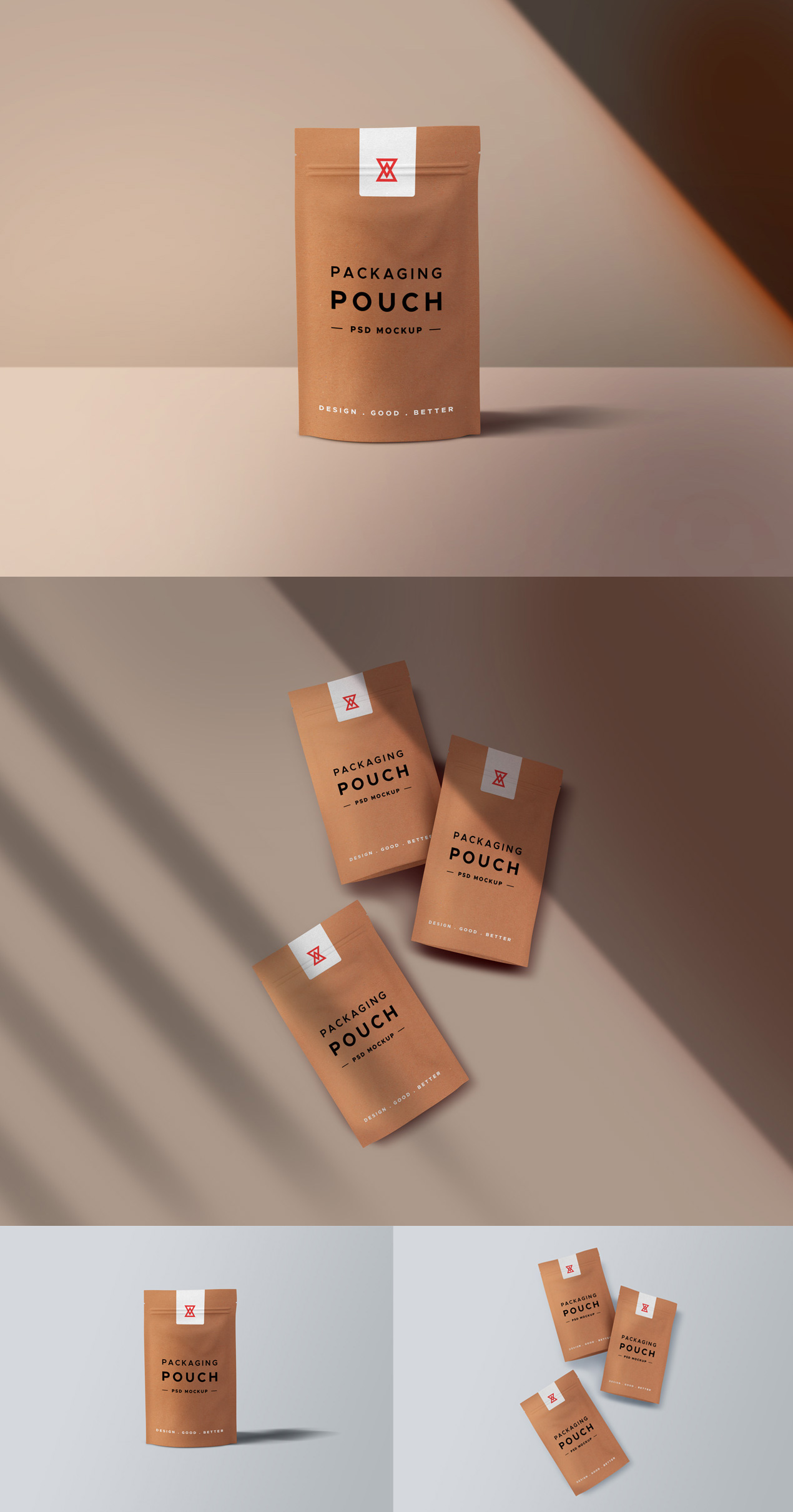 Paper Pouch PSD Mockups