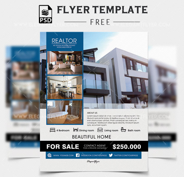 Realtor – Free Flyer PSD Template