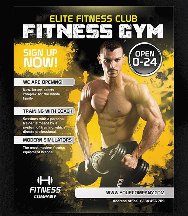 Fitness Gym – Free Flyer PSD Template