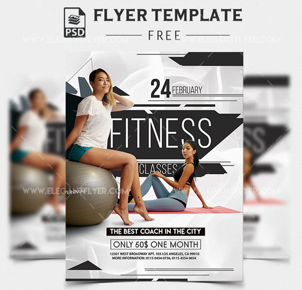 Fitness Classes – Free PSD Flyer Template