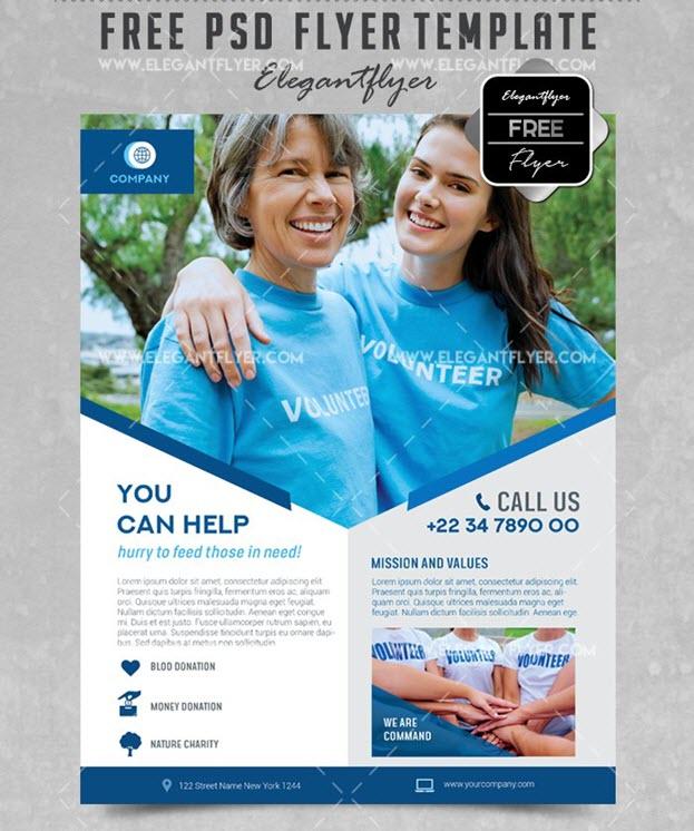 Volunteer – Free Flyer PSD Template