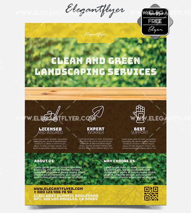 Gardener – Free PSD Flyer Template