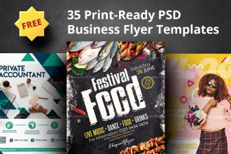Top 35 Print-Ready Free Business Flyer PSD Templates for Small Business Marketing