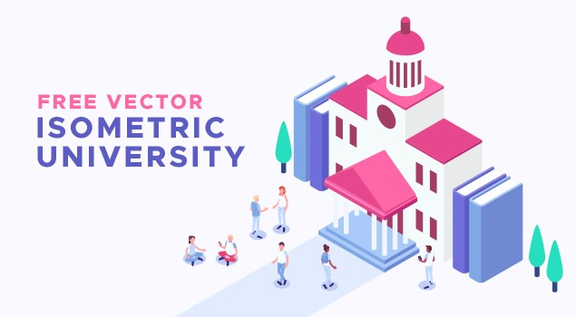 Free Vector Isometric Education Icons